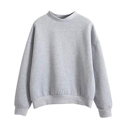 Minetom Mujer Sudaderas Manga Larga Cuello Redondo Pullovers Sudadera Camiseta Blusa Tops Suéter Otoño Invierno Flojo Sweatshirt