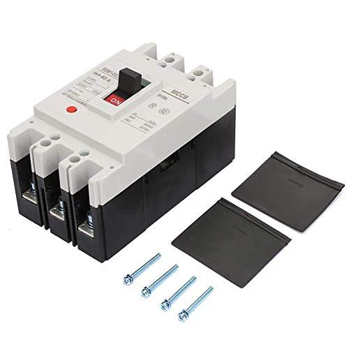 YISUNF Interruptor de la Rotura del Aire, disyuntor de Circuito Integrado 3P Interruptor Break Aire con Todo el Cobre Contactos 800V 76 * 135 * 70 mm (40A)