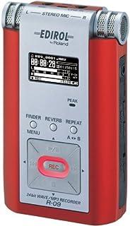 Roland 24bit WAVE/MP3 Recorder (赤) R-09R