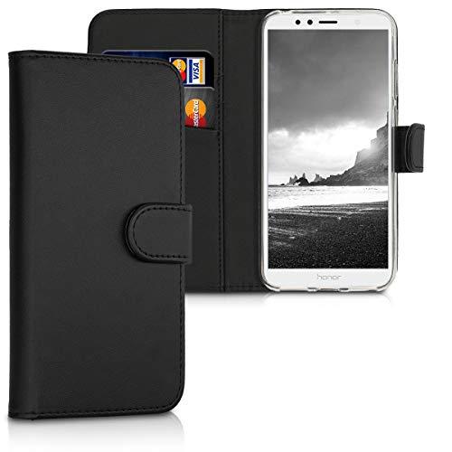 kwmobile Custodia Compatibile con Honor 7A Custodia Portafoglio - Cover a Libro in Simil Pelle - Flip Case Custodia con Porta Carte