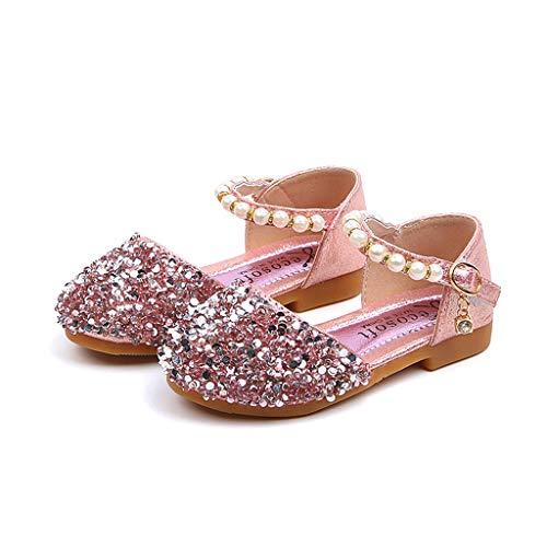 Bling Schuhe Kinder MäDchen, Baby Mädchen Prinzessin Schuhe, Kleinkind Pailletten Sandalen für Abschlussballparty, Geburtstagsgeschenk