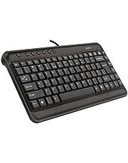 A4 Tech KL-5, Kablolu Mini Multimedya X-Slim Klavye , Q Türkçe, Siyah