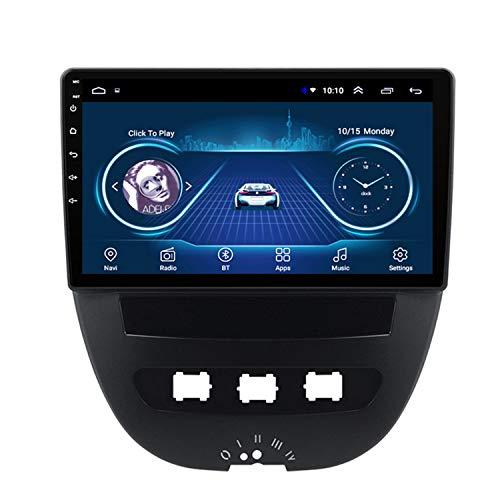 CARACHOME Android 10 Autoradio Lettore Dvd Navigazione GPS multimediale per Peugeot 107 Toyota Aygo Citroen C1 2005-2013 Anni Stereo,WiFi 1+16g