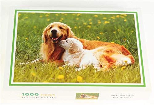 Puzzlespiele Stichsägen for Erwachsene, Stichsägen Puzzles 1000 Stück, Ölmalerei Puzzle, Erwachsene DIY Tiermuster-Bildpuzzle Puzzle Home Spiel (Color : D)