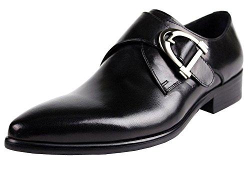 Jsix Hombre De Cuero de hebilla Formales Zapatos De Vestir De Piel...