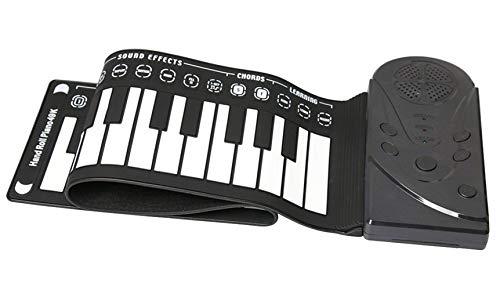 Icegrey Tragbar 49 Tasten USB Weich Flexibel Elektronische Klaviertastatur Flexibel Anfänger Kinder Praxis Musikinstrumente Schwarz Einheitsgröße