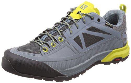 SALOMON X Alp Spry GTX, Chaussures de Randonnée Basses Homme, Gris (Stormy Weather/Magnet/Citronelle 000), 44 2/3 EU