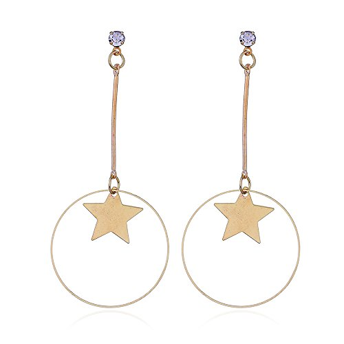 Oorbellen, oorclip, Pendienten, hoepels speciale diamant-studded vijfpuntige ster straat schieten Star Oorbel eenvoudig, Koreaanse versie, accessoires, prachtige, retro