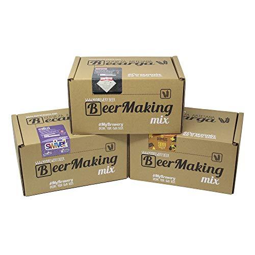 Pack 3 recargas de materias primas para elaborar cerveza en casa. Domus Miel, Swivel Creative Pale Ale by Dawat & San Frutos Amber Ale