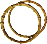 Tre sfere Asas circulares para bolsos de bambú, paquete de 1 par (círculo de 21 cm)
