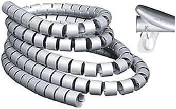 Terryshop74 Guaina Filo Avvolgente a Spirale 28 mm x 1.5 mt Nero Tubo Flessibile a Spirale Fascetta avvolgicavo Cavo avvolgicavo Cavo di Protezione del Cavo