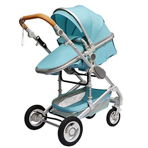 AYDQC Cochecito de Lujo de bebé 3 en 1 Cochecito de Viaje portátil Cochecito Plegable Marco de Aluminio Alto Cochecito de Paisaje Mejorado (Color: G) fengong (Color : G)