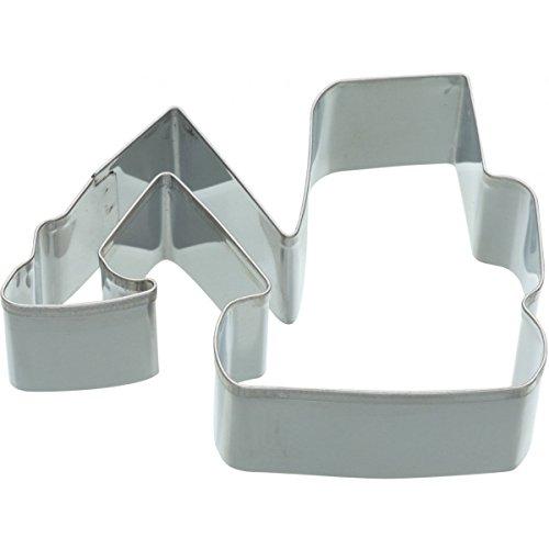 Kitchen Craft Keksausstecher Bagger 9cm aus Metall in Silber, 28 x 28 x 30 cm