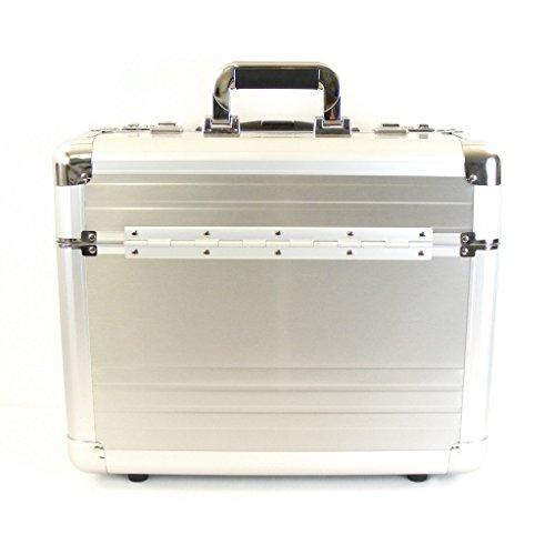 Dermata Aluminium Laptop-Pilotenkoffer 17 Zoll aluminium/silber