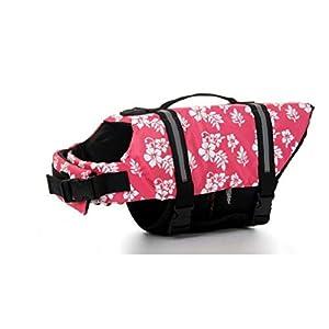 Dog Life Jacket Vest Saver Safety Swimsuit Preserver with Reflective Stripes Adjustable Belt for Dog