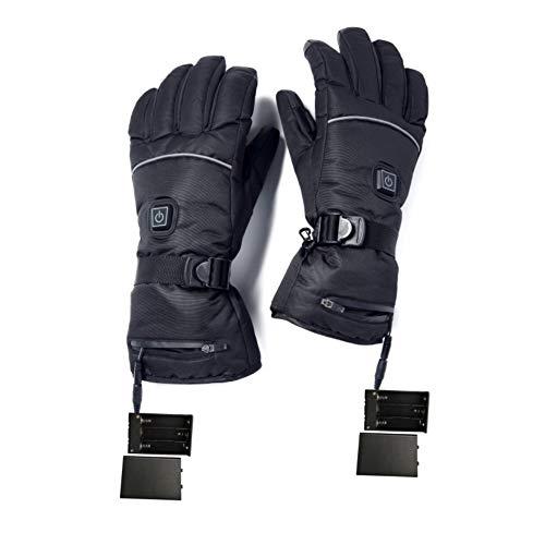 Forart Beheizte Handschuhe für Männer und Frauen, batteriebetriebene Handschuhe mit Einstellbarer Temperatur, elektrisch beheizte Skihandschuhe, wärmere Winterhandschuhe für die Hände