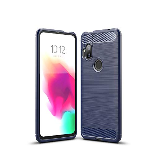 LAGUI Passend für Motorola One Hyper Hülle, Superdünne Elegantes Flexibles TPU Anti-Scratch Schutzhülle, blau