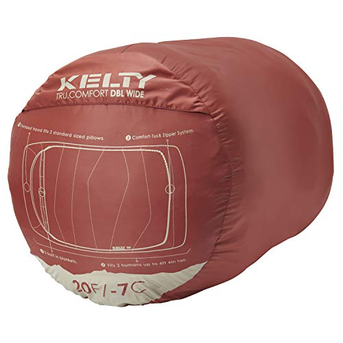 Kelty Tru.Comfort Doublewide 20 Degree Sleeping Bag – Two Person Synthetic Camping Sleeping Bag for Couples & Family Camping – Stuff Sack Included