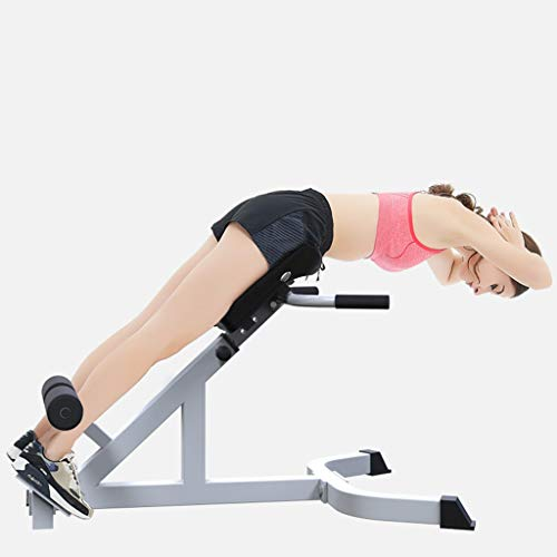 XIANGMIHU Adjustable Roman Chair/Back Extension Bench/Hyperextension Machine Lower Back Exercise Equipment for Back Workout and Ab Bench