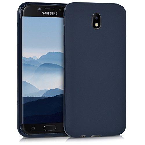 kwmobile Samsung Galaxy J7 (2017) DUOS Hülle - Handyhülle für Samsung Galaxy J7 (2017) DUOS - Handy Case in Dunkelblau matt