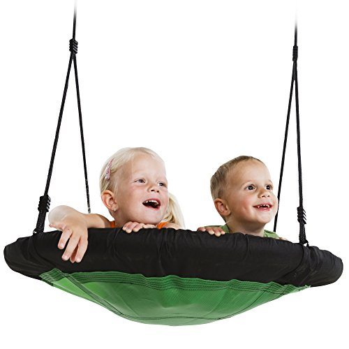 "Swing-N-Slide NE 4630 Nest Swing Outdoor Swing with 40"" Diameter, Green & Black"