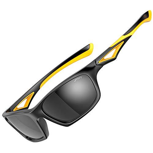 ATTCL Polarisierte Kinder Sonnenbrille TR90 flexibleRahmen Sportbrille für Jungen und Mädchen Alter 3-10 JDRW001 black+Orange