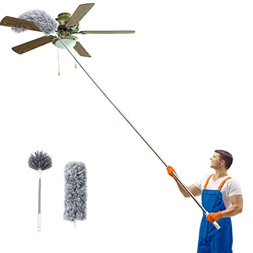 Long Duster with Extension Pole 30''-100''(Stainless Steel)
