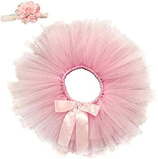 Newborn Outfits Baby Girl Photography Props Infant Costume Cute Headband Tutu Skirt Set Pink