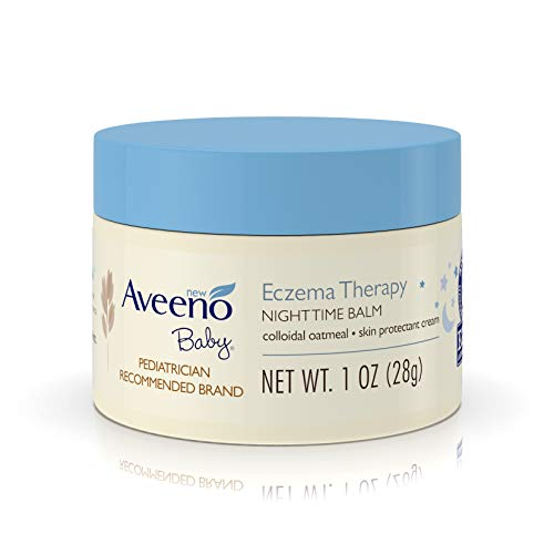 Aveeno Baby Eczema Therapy Nighttime Balm with Natural Colloidal Oatmeal for Eczema Relief, 1 oz