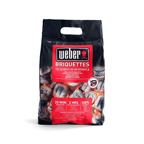 Weber Brikett Briquette-3 kg, Black and red