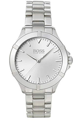 Hugo Boss Damen Analog Quarz Uhr mit Edelstahl Armband 1502466