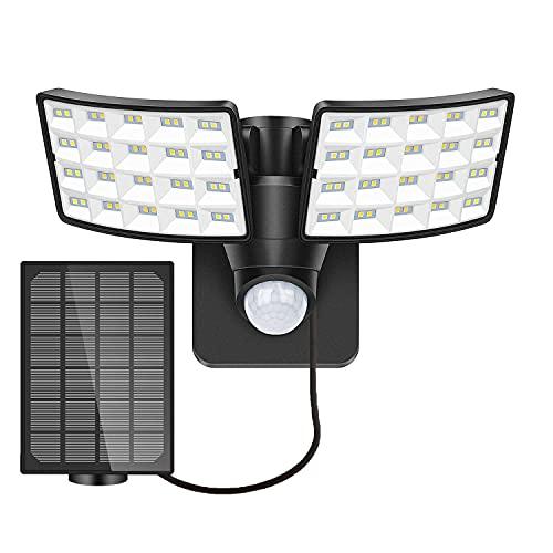 LUOWAN Luz Solar Exterior con Sensor de Movimiento, 5500K Foco Solar Exterior LED con Sensor,...