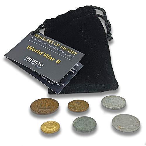 IMPACTO COLECCIONABLES Segunda Guerra Mundial - 6 Monedas Originales de la Europa Ocupada por Alemania - 1925-1945