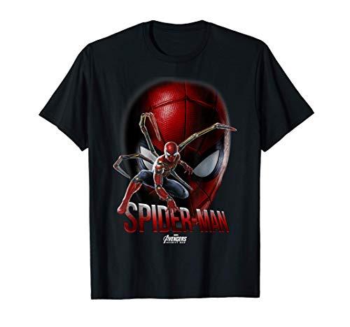 Marvel Infinity War Spider-Man Game Face Maglietta