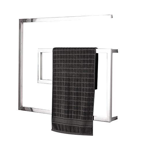 N/Z Inicio Equipo Toallero con calefacción para baño Montado en la Pared Acero Inoxidable Pulido Cableado y Temporizador de Enchufe Riel Calefactor para Toallas Secado Pulido Integrado 31'x 23.6' 60W