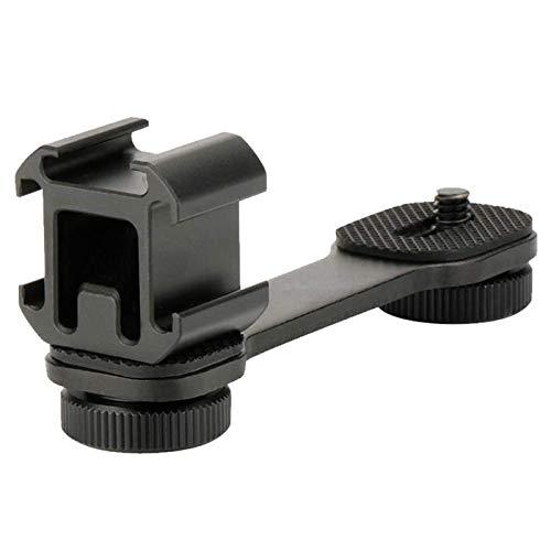 1 Doppio Supporto per Piastra Forata Con Vite Da 2 1 4 , 1 Pezzi Hot Shoe Mount Adattatore Flash a Slitta per Luci Flash, per Canon Nikon Sony SLR DSLR fotocamera videocamera