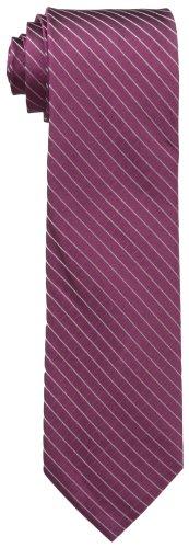 Calvin Klein Men's Etched Windowpane A Tie, Burgundy, Regular