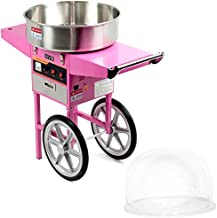 VIVO Pink Electric Commercial Cotton Candy Machine/Candy Floss Maker, Mobile Cart with Bubble Shield CANDY-KIT-2