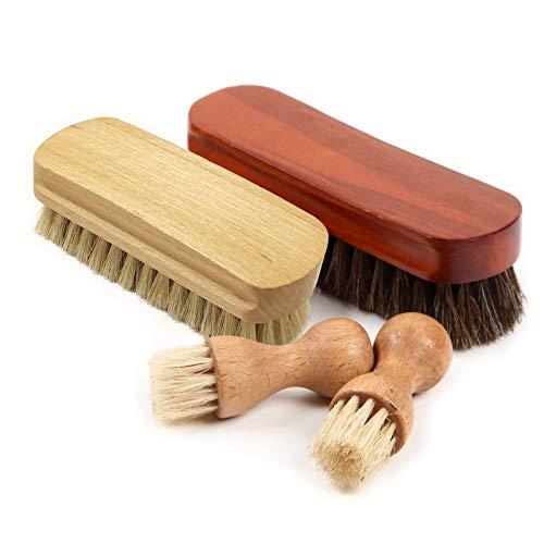 [FOOTSTEPS] 靴磨きセット 靴磨き ブラシ セット 馬毛ブラシ 豚毛ブラシ ペネトレイトブラシ セット 収納麻袋付