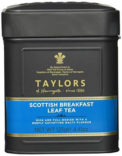 Taylor's of Harrogate Scottish Breakfast Leaf Tea – 125 g – Früchstückstee lose – Kräftige Schwarzteemischung