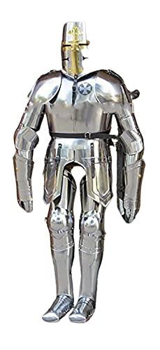 NAUTICALMART Disfraz de Armadura de Caballero Medieval, Traje de Renacimiento de Armadura IOTC Armoury