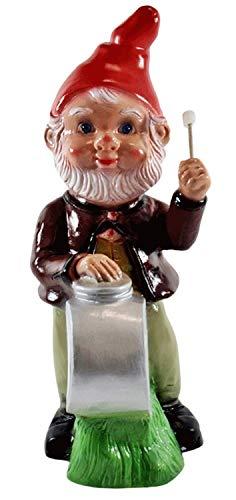 RAKSO Gartenzwerg Garten Zwerg Figur aus Kunststoff Musiker mit Trommel Höhe 33 cm