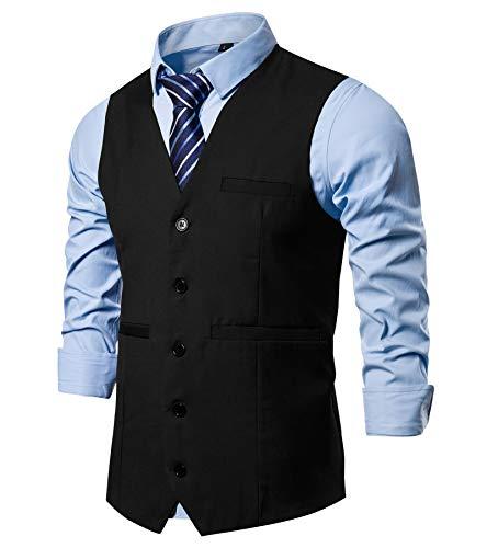 Dockers mens Stretch Separate (Blazer, Pant, and Vest) Business Suit Pants Set, Black Pant, 38W x 32L US