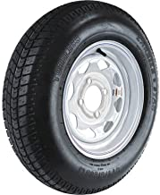 Martin Wheel Carrier Star 13in. Bias-Ply Trailer Tire and Wheel Assembly - ST175/80D-13, 4-Hole, Load Range C, Model Number DM175DC-4C-T