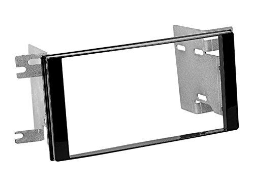 2DIN kit di installazione autoradio mascherina Radio Cavo di collegamento antenna Adapter Set completo per Subaru Forester SH SHS 03/2008–03/2012NERO