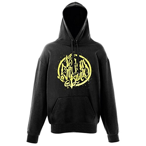 187 Straßenbande - Logo Hoodie schwarz/gelb (XL)