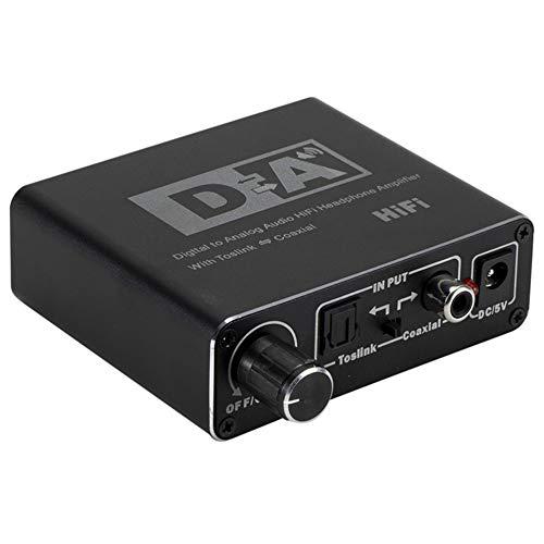 LeftSuper o Decodificador Convertidor de Fibra Digital a analógica Coaxial a 5.1 Canales o Decodificador 3.5 Auriculares con Ajuste
