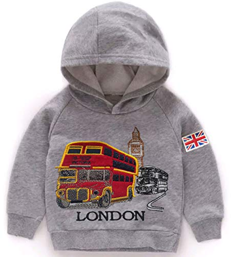 Sudadera de algodón con capucha de Londres Red Bus Big Ben Souvenir Niños Bebé Crecer Regalo Sudaderas Sudadera Unisex
