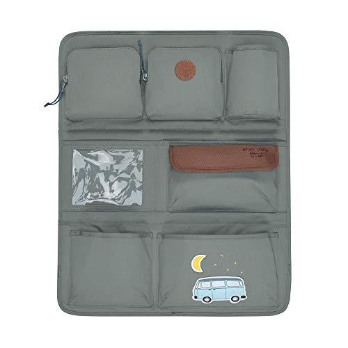 LÄSSIG Autoorganizer Autorücksitzorganizer Rücksitztasche für Auto oder Kinderzimmer zum Hängen zusammenklappbar/Car-Wrap-to-Go, Adventure Bus