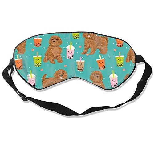 Ruby Cavoodle Cavapoo Hondenras Bubble Thee Zijde Slaap Masker Comfortabele Blindfold Oogmasker Verstelbaar voor Mannen, Vrouwen of Kinderen